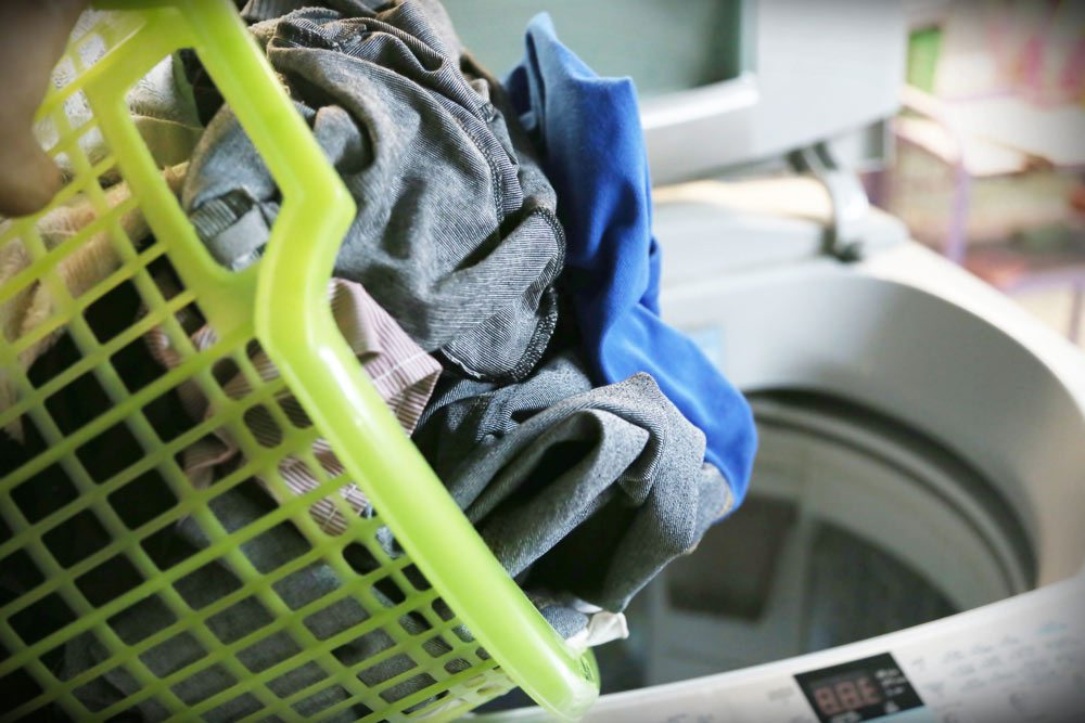 washing machine, laundry, basket, clothes